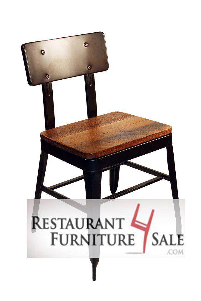Modern Industrial Simon Metal Restaurant Chair Retail