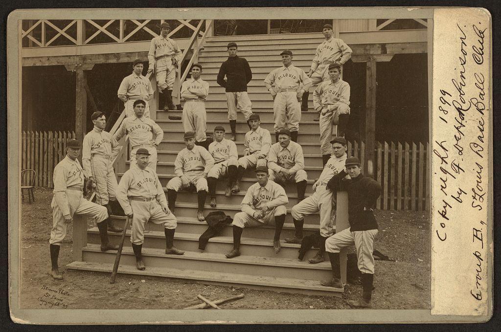 St. Louis base ball club, group B / Strauss Photo, St. Louis.