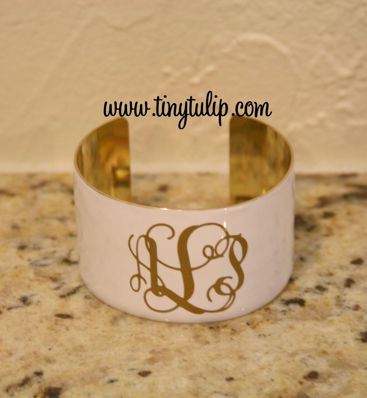 tinytulip.com - Monogrammed Enameled Cuff Bracelet Free Shipping, $32.50 (http://www.tinytulip.com/monogrammed-enameled-cuff-bracelet-free-shipping)