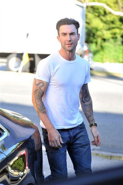 By Us WeeklyCatching up with the future in-laws! Adam Levine was spotted with his fiancee Behati Prinsloo grabbing dinner with her parents at Mozza in Los Angeles on Saturday, Oct. 19. Dressed down in his usual white t-shirt and jeans, the couple looked excited to entertain her family while they visited. Behati clearly got her stunning looks from her mom, who was wearing a short black dress and knee high boots with her blond locks down during the outing.PHOTOS: Quickest celebrity engagements…