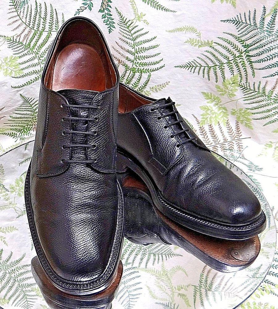 Mens ALLEN EDMONDS LA SALLE black leather oxfords formal shoes sz. 11 D