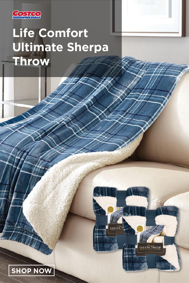 Life Comfort Ultimate Sherpa Throw 2 Pack Sherpa Throw Sherpa