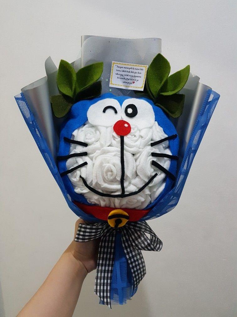 Doraemon Bunga Kain Bunga Buket