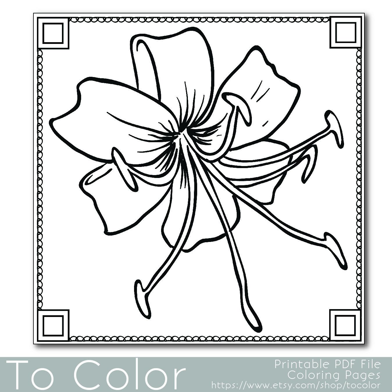 Here's a striking flower coloring page which can be ...