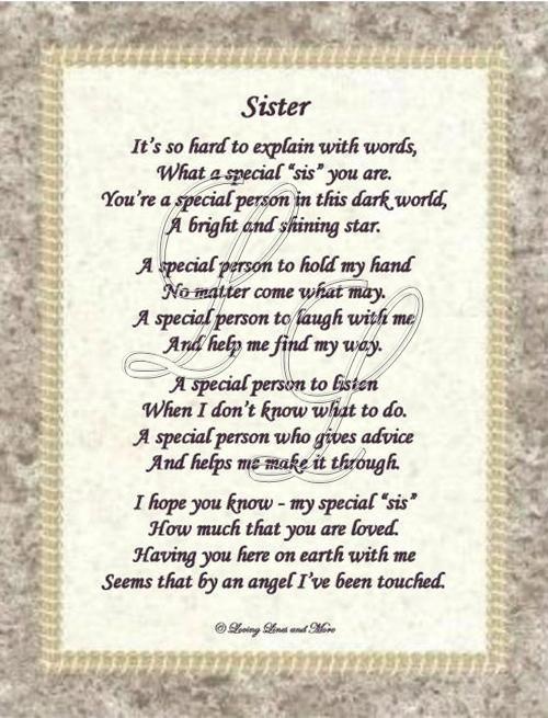 Sister Birthday Poems 3