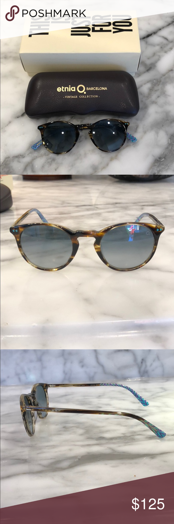 1e4f12ac28 Etnia Barcelona Vintage Sunglasses Brand new Model Vintage Collection x-berg  HVTQ 47mm Made with photochromic lenses Includes sunglasses
