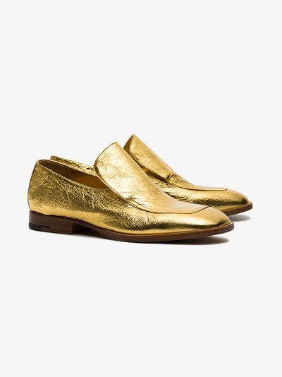 Dries van Noten metallic loafers