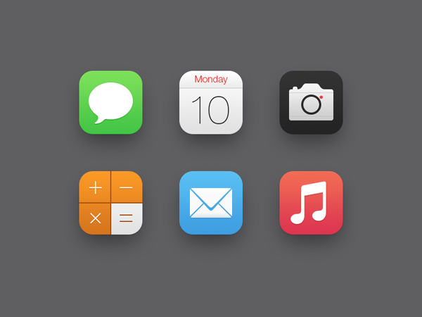 iOS 7 Icons by ididi. Check out these other Brilliant iOS