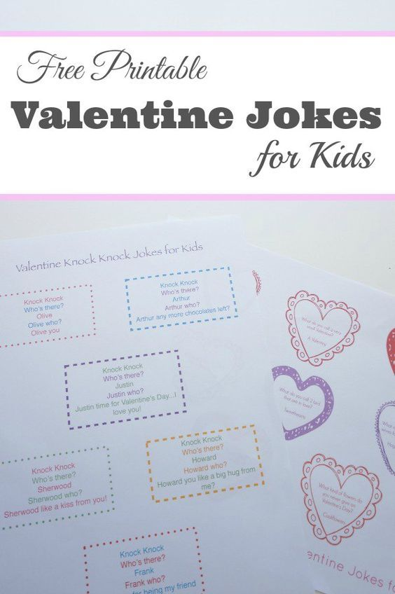 printable valentine jokes for the kids a collection silly knock knock jokes and punny valentine