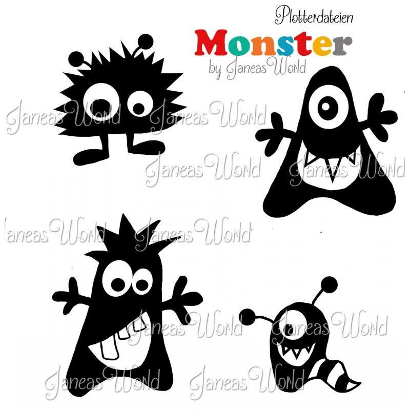 Plottervorlagen Monster, Plotterdatei