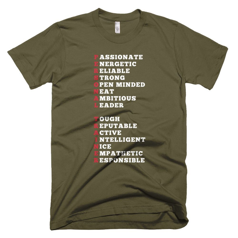 Personal TRAINER. Short sleeve men's tshirt. (With images