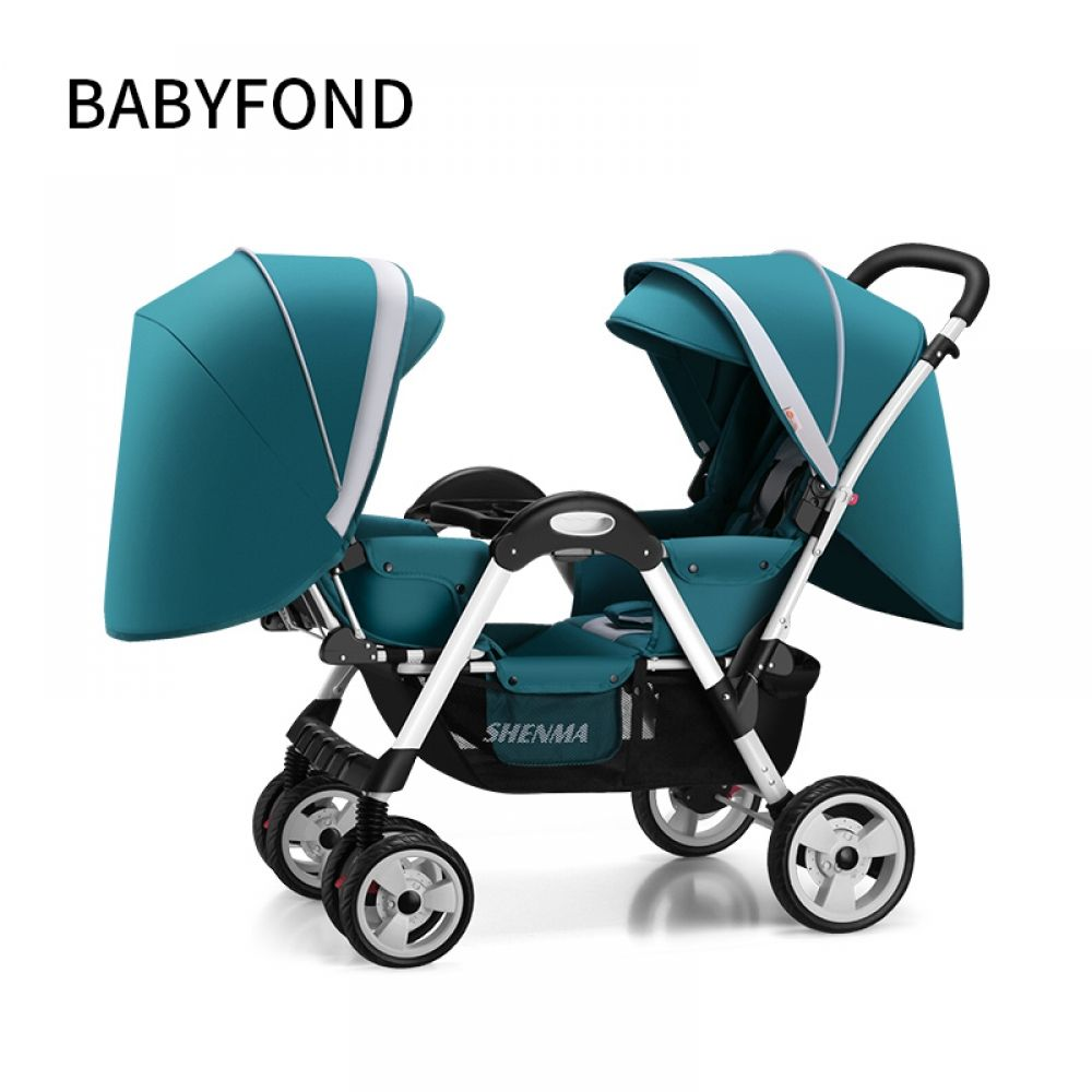 Color : C Twin Stroller Double Second Baby Can Sit Reclining Stroller Light and Easy Folding Stroller Baby Stroller