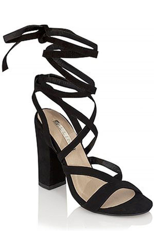 Image result for ladies thin strap wrap shoes. Wrap ShoesHeels & PumpsBlack  SuedeBlock ...