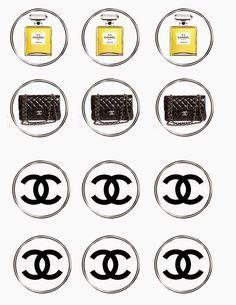 Chanel: Toppers, Etiquetas o Stickers para Imprimir Gratis