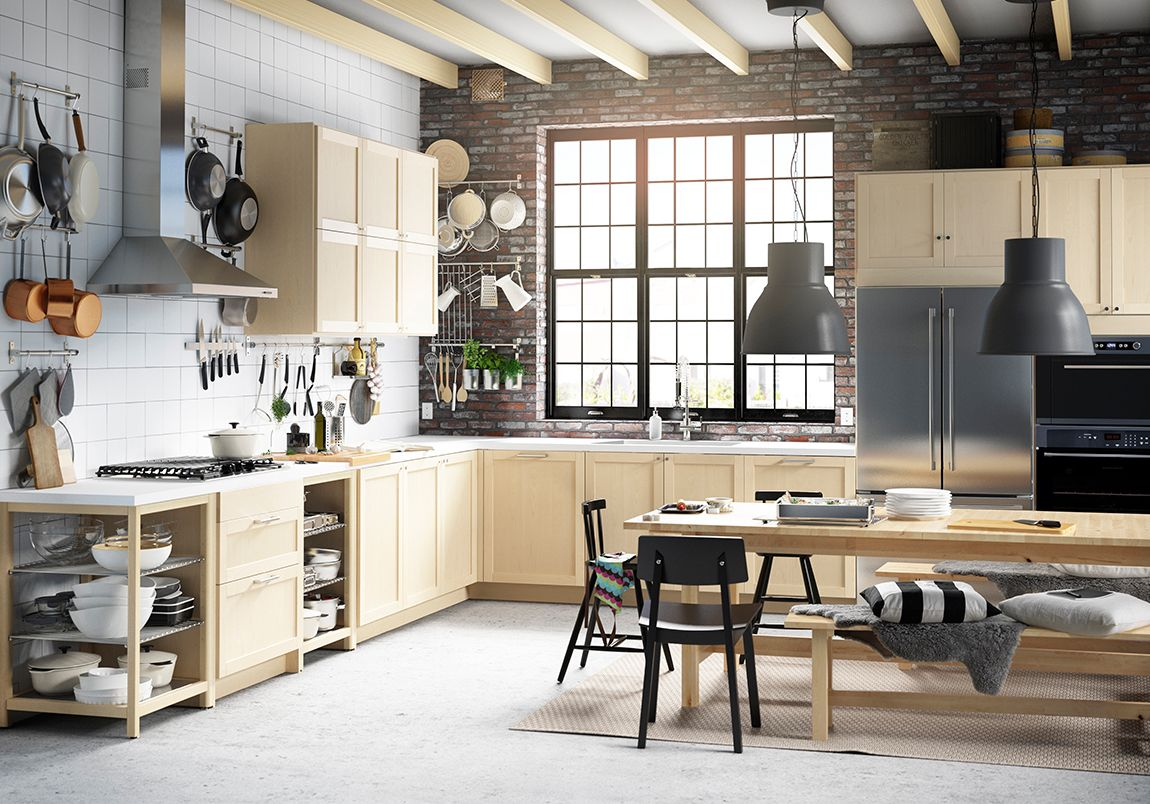 Vintage I like this IKEA kitchen as well though I am not sure about the blond wood cabinets