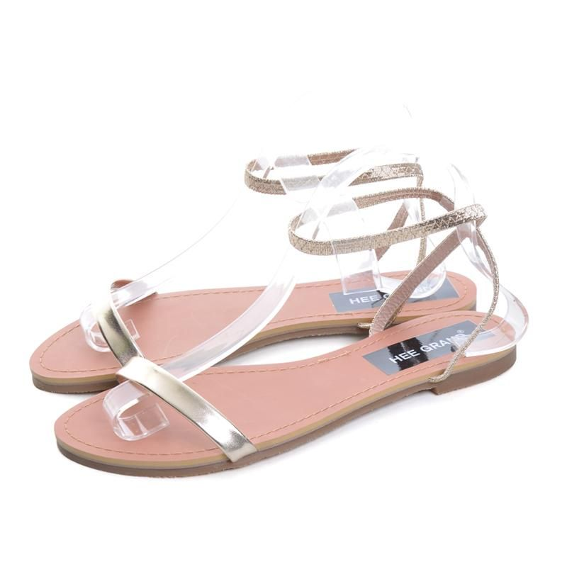9e998ae31 Patent Leather Shoes Woman Summer Slip On Ankle Strap Flats Sandals ...