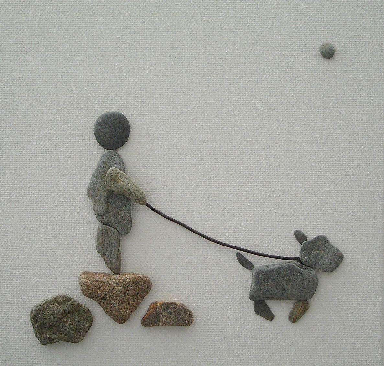 Pebble art pebbles on canvas via sandy walker piedras for Pebble art ideas