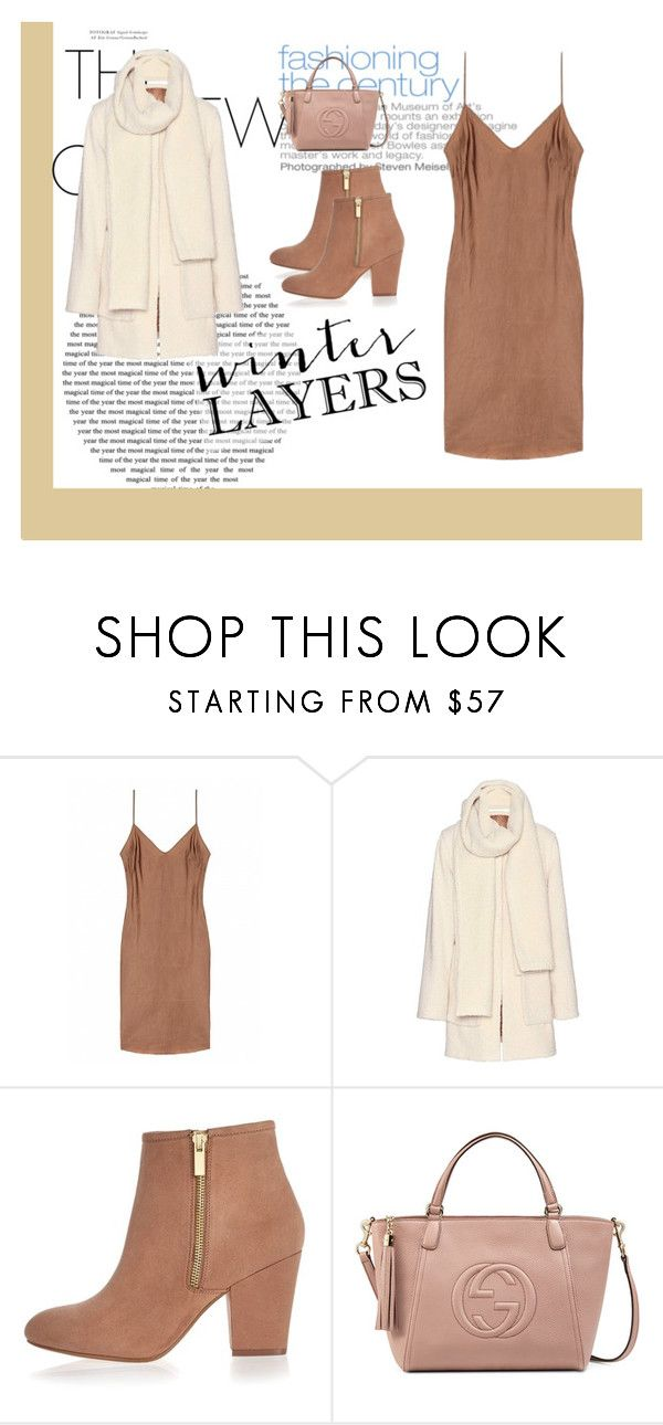 """nude slip dress"" by caroowcastillo ❤ liked on Polyvore featuring moda, Victoria Beckham, River Island, Gucci, women's clothing, women's fashion, women, female, woman i misses"