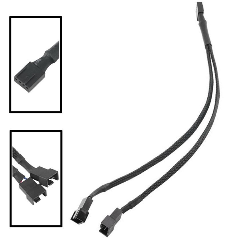 Best price 4-Pin Fan 4P Cable One Point Two PMW Fan Y Splitter Black ...
