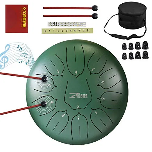 Zhruns Steel Tongue Drum 11 Notes 10 Inches Percussion Instrument Best Offer Instrumentstogo Com In 2020 Percussion Instruments Percussion Drums