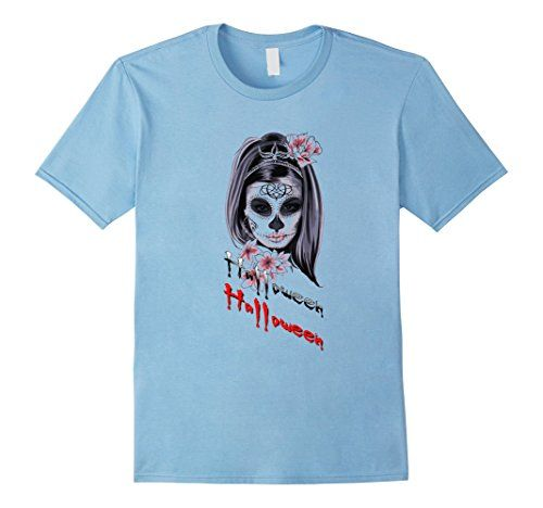 Mens Scary Halloween T-Shirt Funny Scary Zombie Girl Tee #halloween - halloween t shirt ideas