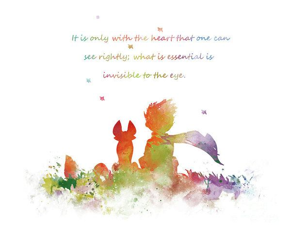 The Little Prince Art Print Littleprince Fox Quote Lepetitprince Amazing Little Prince Love Quotes