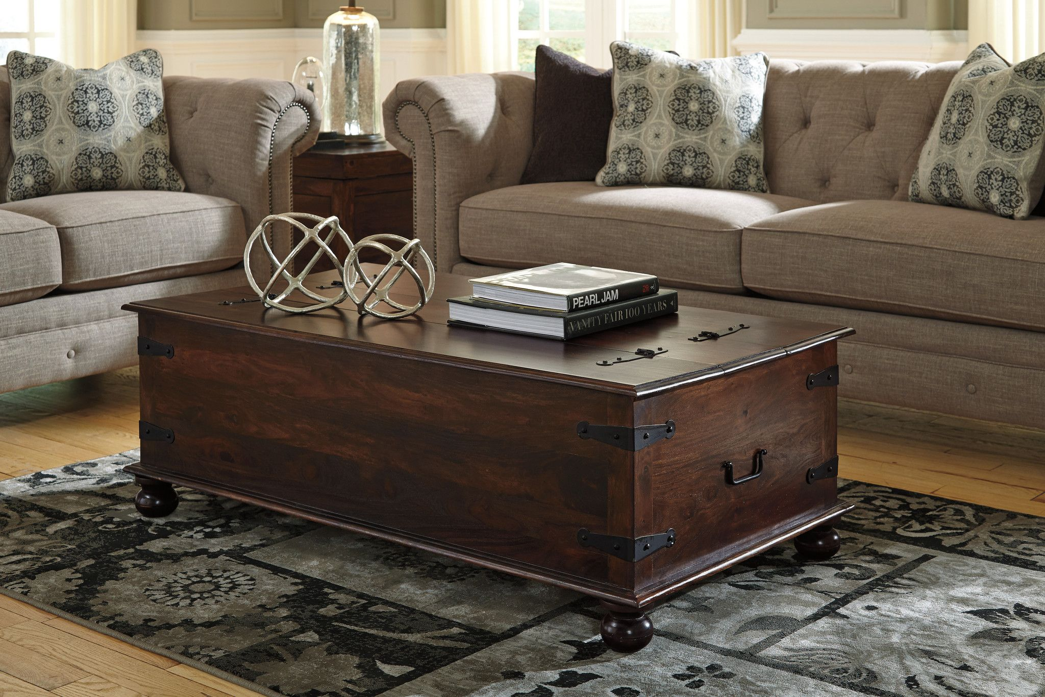 Living Room Decor Holifern Cocktail Table With Storage By Ashley