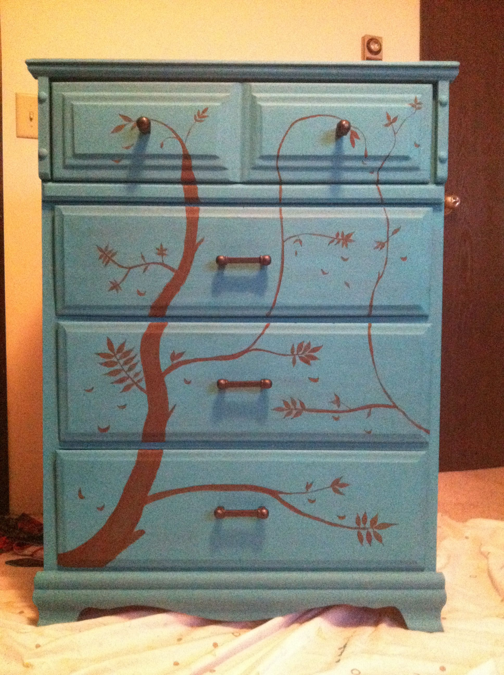 A dresser that I painted