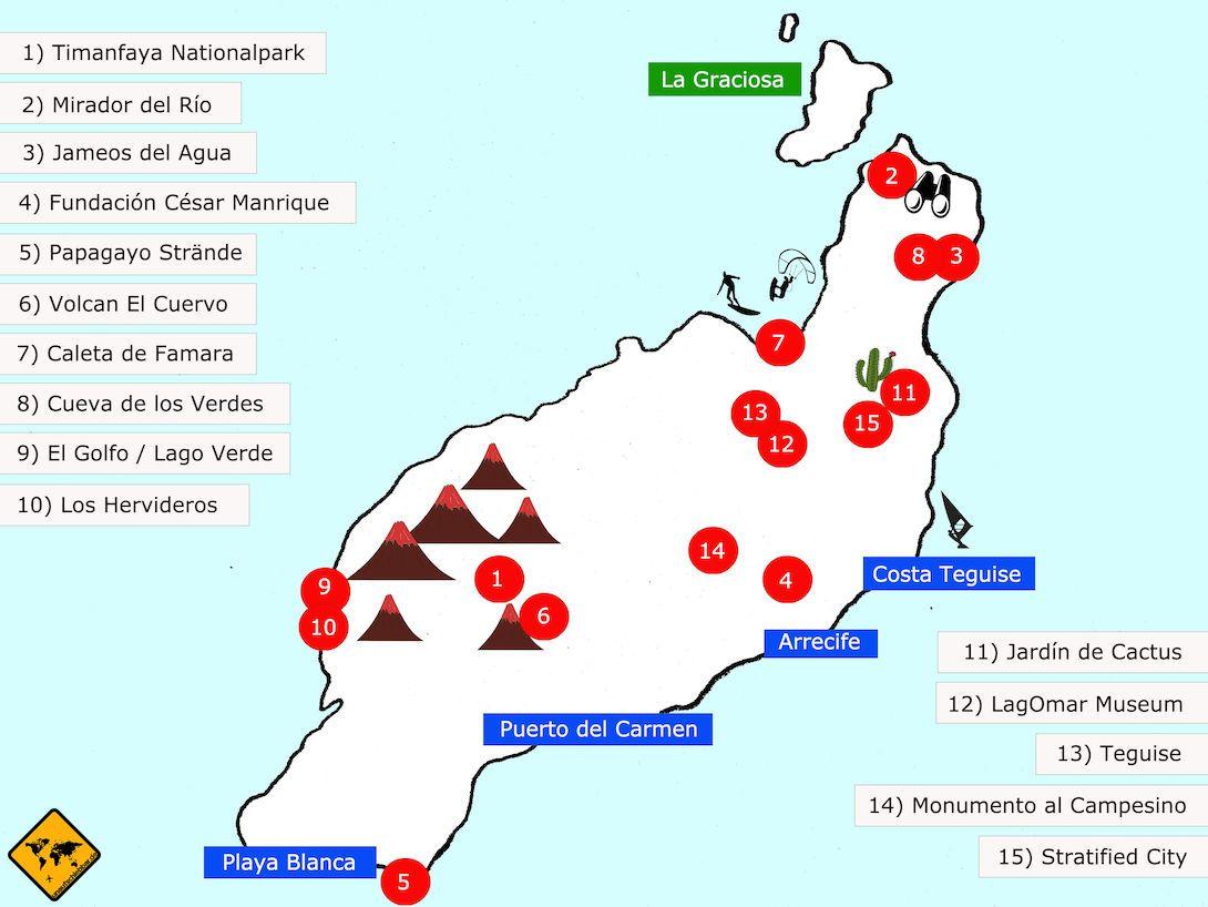 Top 15 Sehenswurdigkeiten Auf Lanzarote Inkl Karte Lanzarote