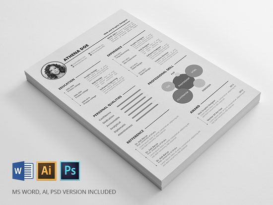 Free cv resume templates in word format 2 Modèles de curriculum - free resume templates in word format