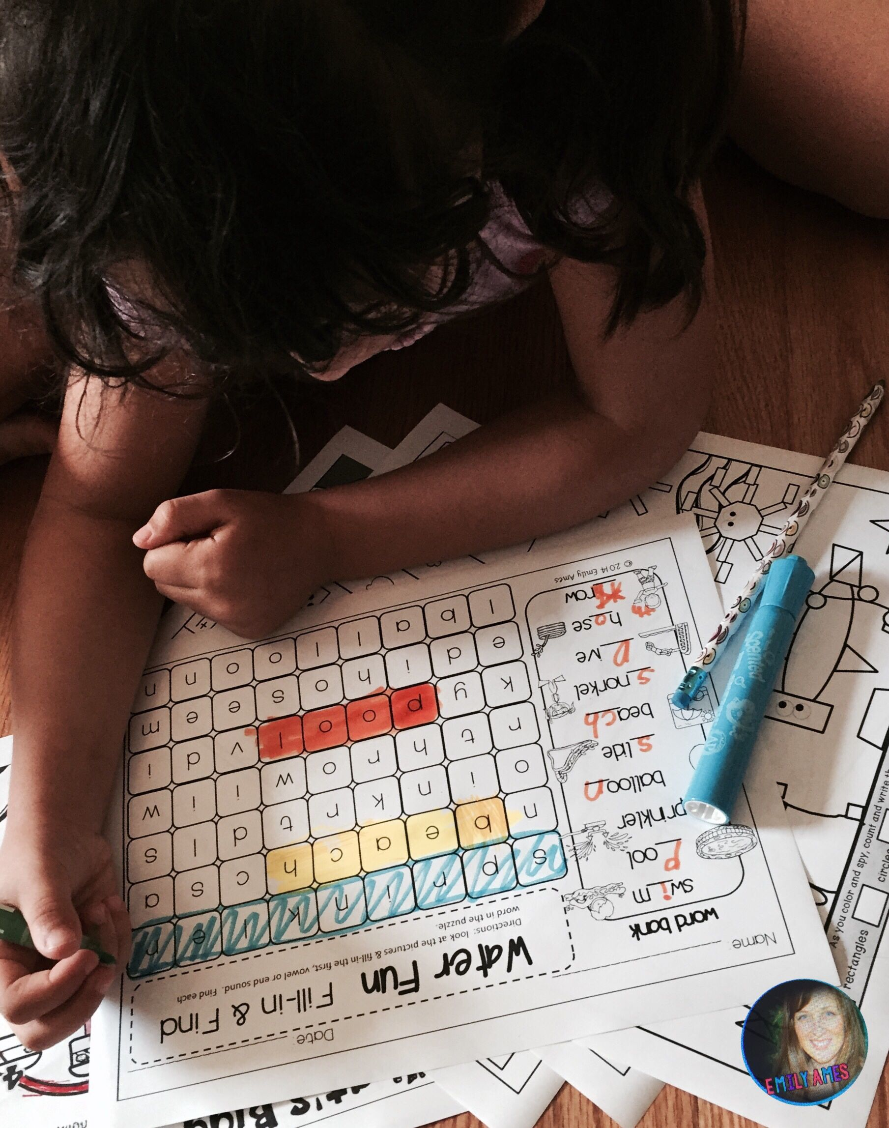 Summer Word Search Fill In And Find Puzzles End Of The