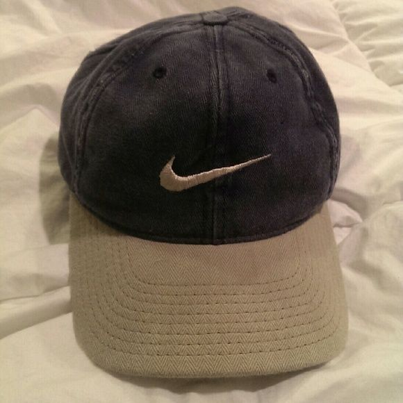 fad7476a77b vintage Nike cap vintage grey and blue (denim like color) hat from nike Nike  Accessories Hats