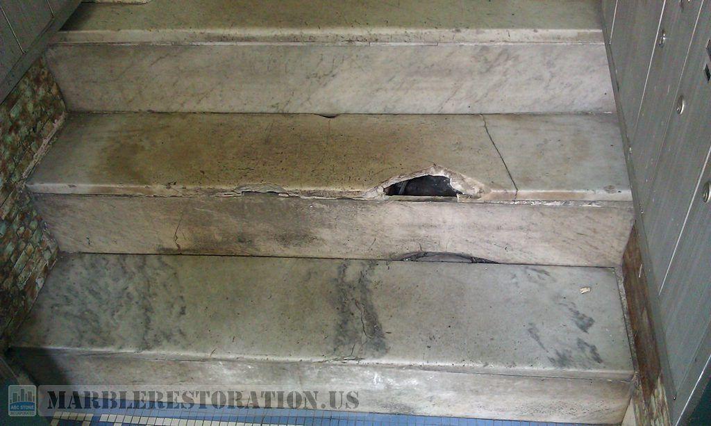 Steps Repair And Replacement Before Marble Restoration Repair