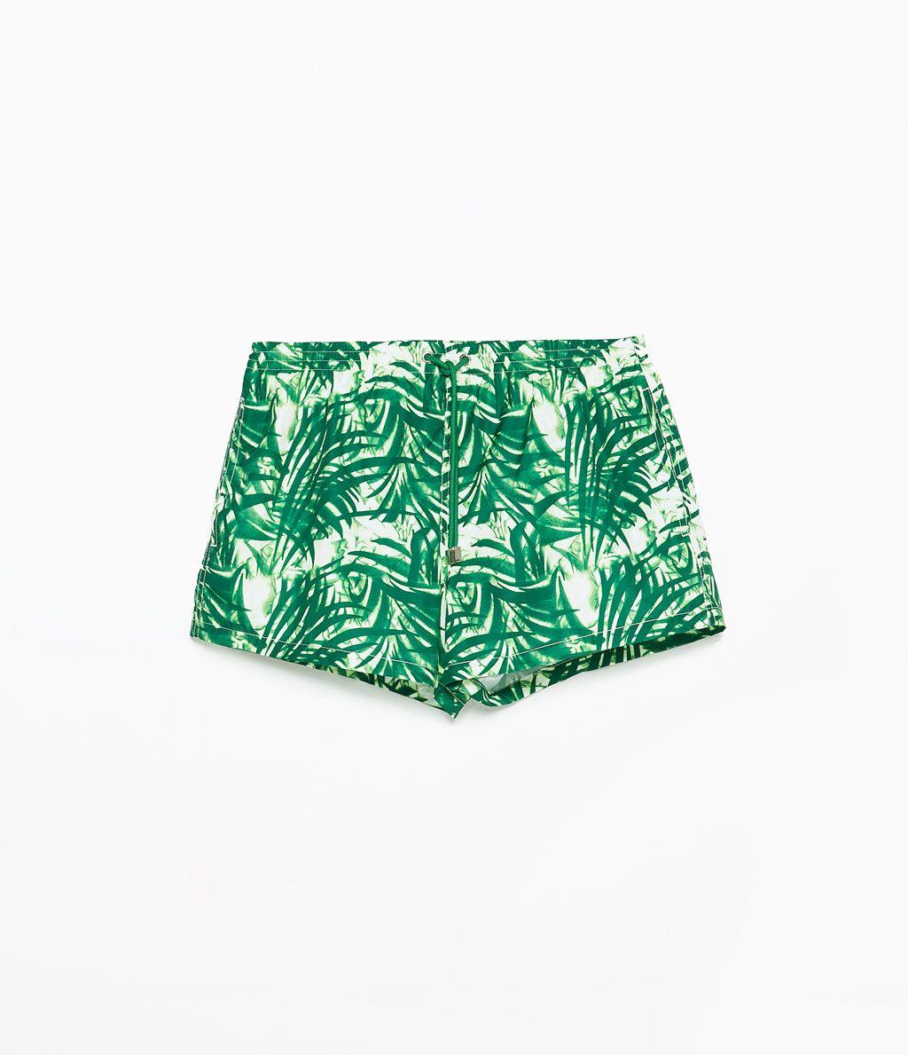Korte Zwembroek.Zara Heren Korte Zwembroek Met Print Man Clothing Swim
