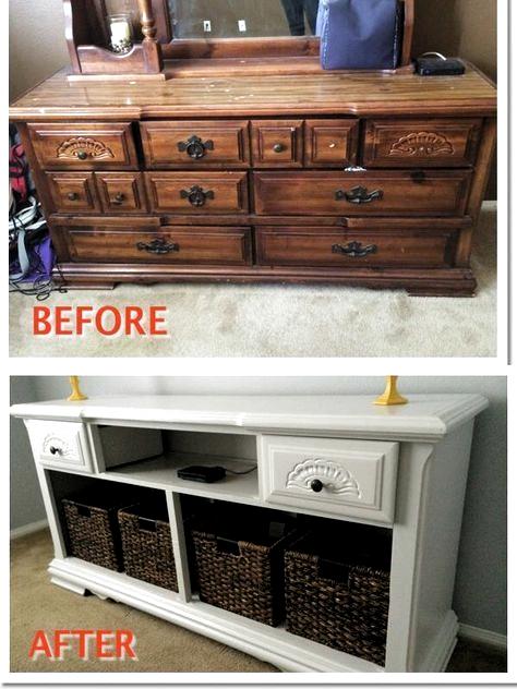 Dressers Makeover Diy Dresser, Refurbished Furniture Ideas