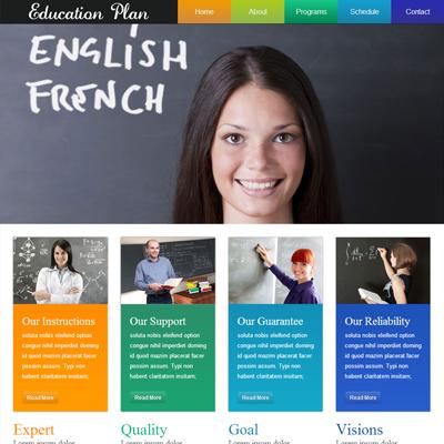 Schools website sample, website sample example free download ...