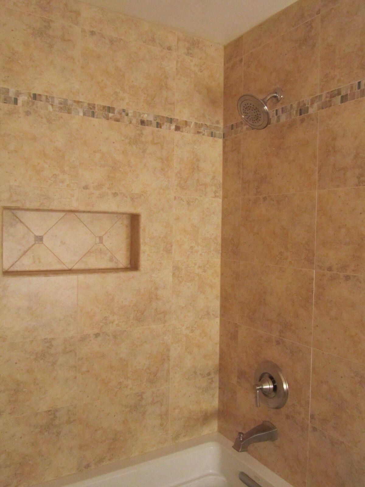 Bathroom Tile Earth Tones Colors Share In 2019 Bathtub