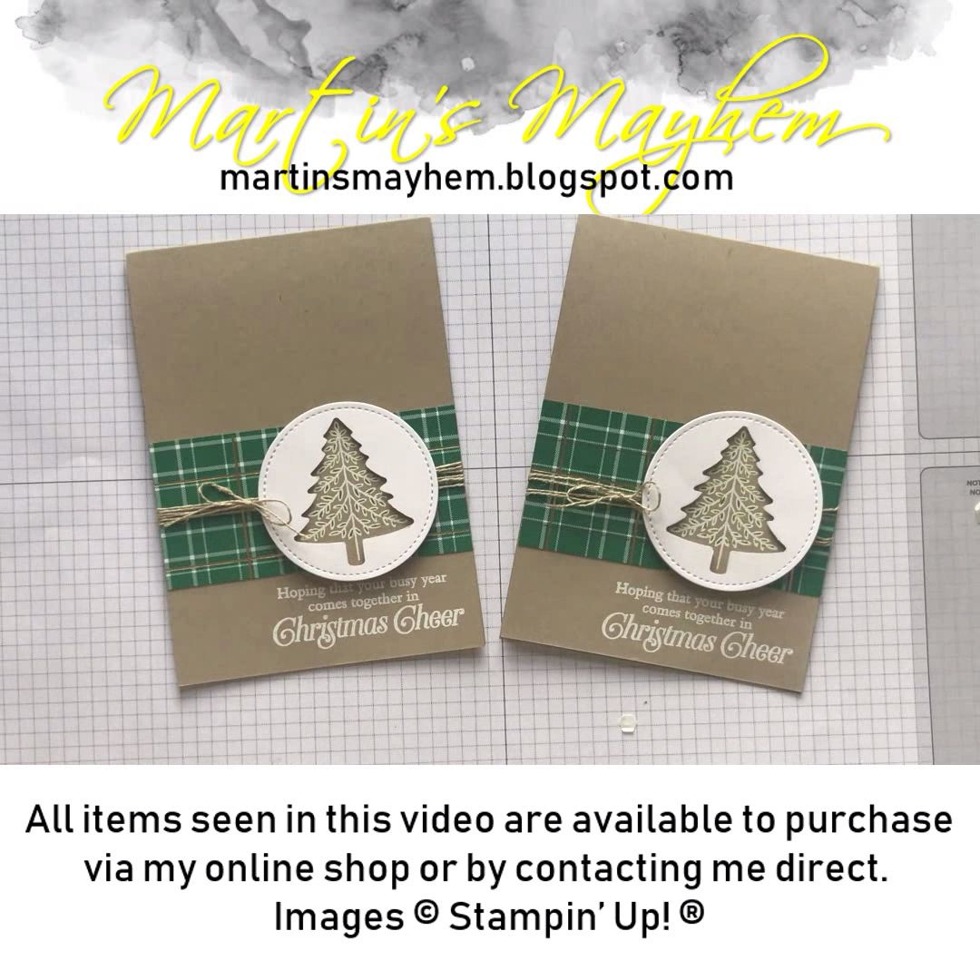 Stampin Up Perfectly Plaid Card #wintercards