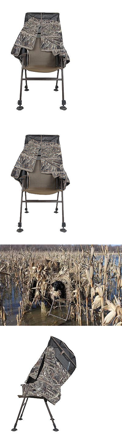 Blinds 177910: Momarsh Invisichair Blind In Max 5 Waterfowl Hunting Chair  Duck Goose Dove Crow