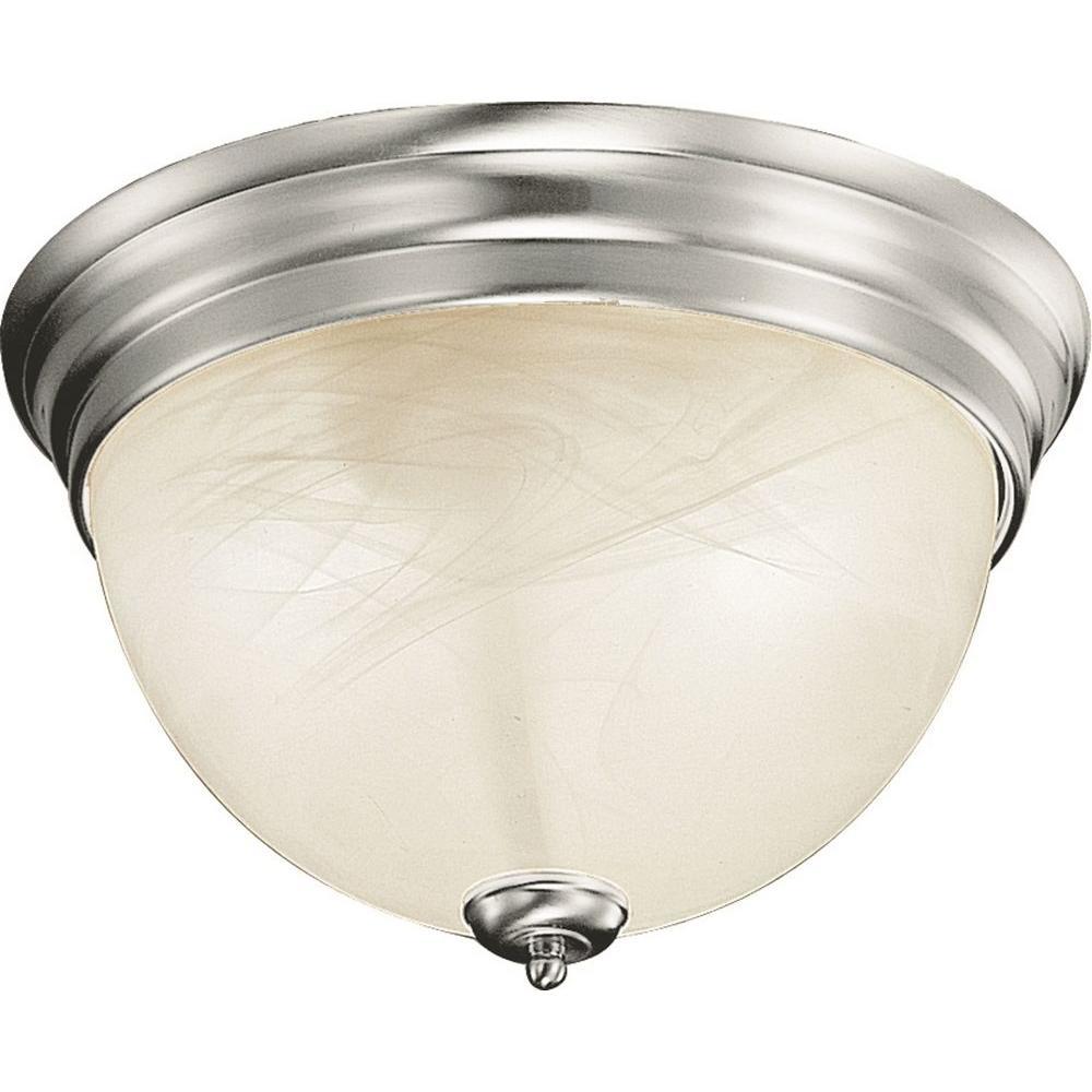 Volume lighting troy light brushed nickel semiflush mount