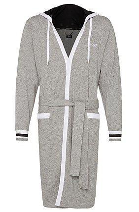 Cotton dressing gown: \'Hooded Robe\', Grey | WardRobe | Pinterest ...