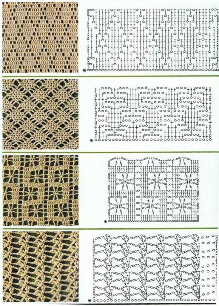 Crochet Stitches - graphs | Crochet | Pinterest | Puntadas ...
