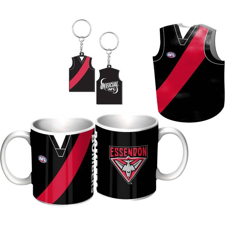 Essendon Bombers Guernsey Giftpack This Great Pack Features Guernsey Design Mug, Keyring, & Stubby Cooler.  To see the full range of AFL merch, visit www.shop.afl.com.au