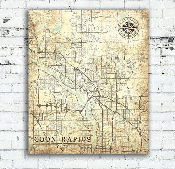 COON RAPIDS MN Canvas Print Minnesota Coon Rapids Mn City Vintage