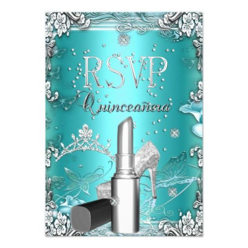 RSVP Quinceanera Party Teal Tiara Lipstick Shoe Invitation so please read the important details before your purchasing anyway here is the best buyReview          	RSVP Quinceanera Party Teal Tiara Lipstick Shoe Invitation please follow the link to see fully reviews...