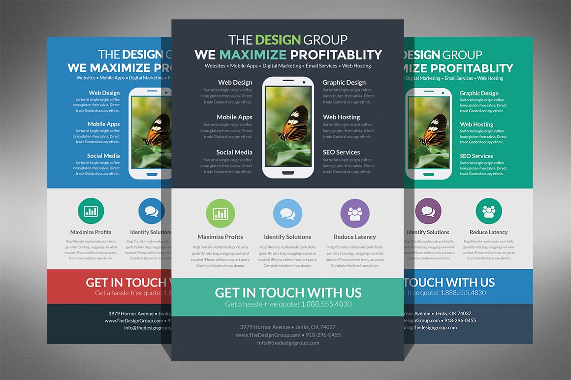 Flat Design Business Flyer  Business Flyers Flat Design And