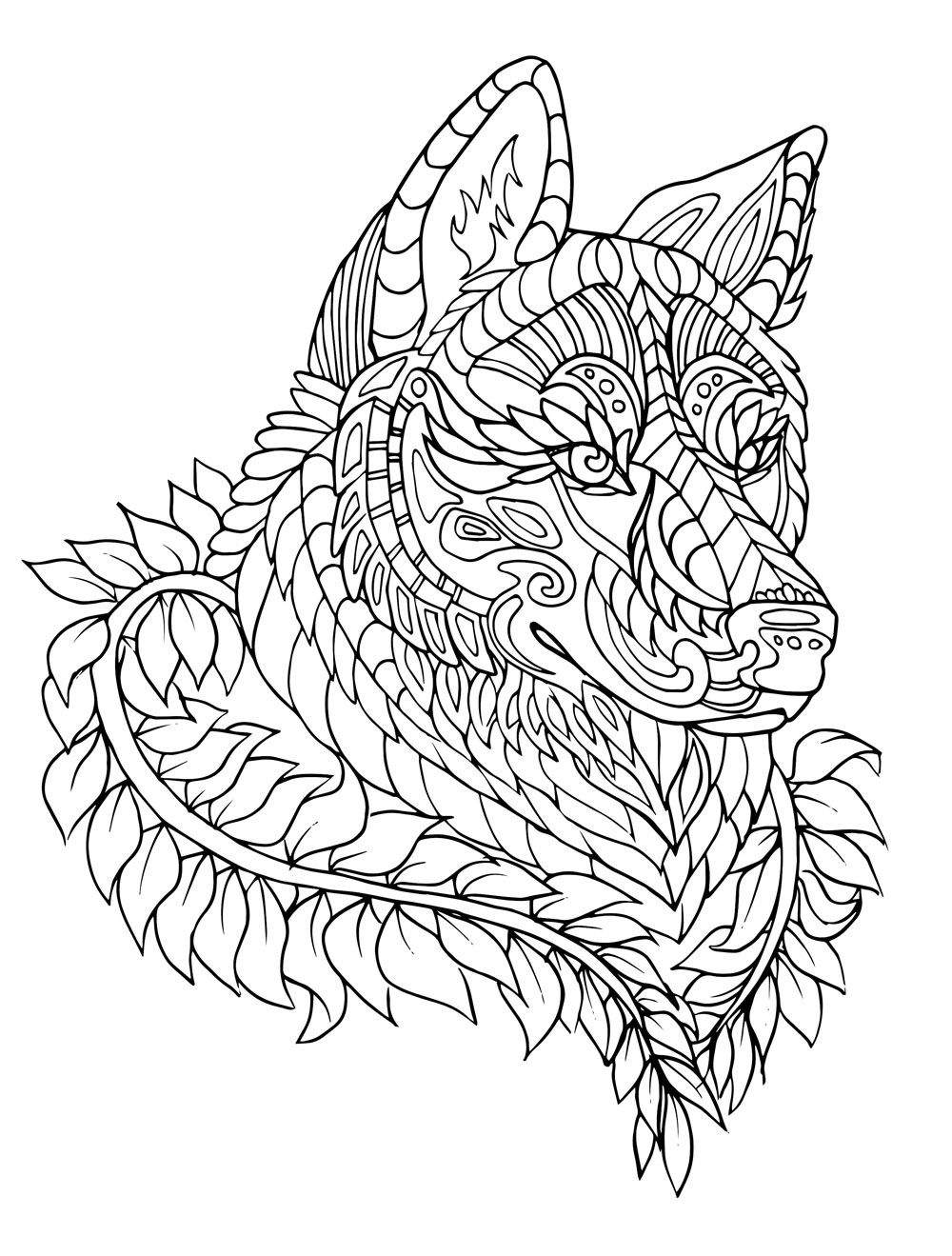 - Wolf Coloring Books Раскраски