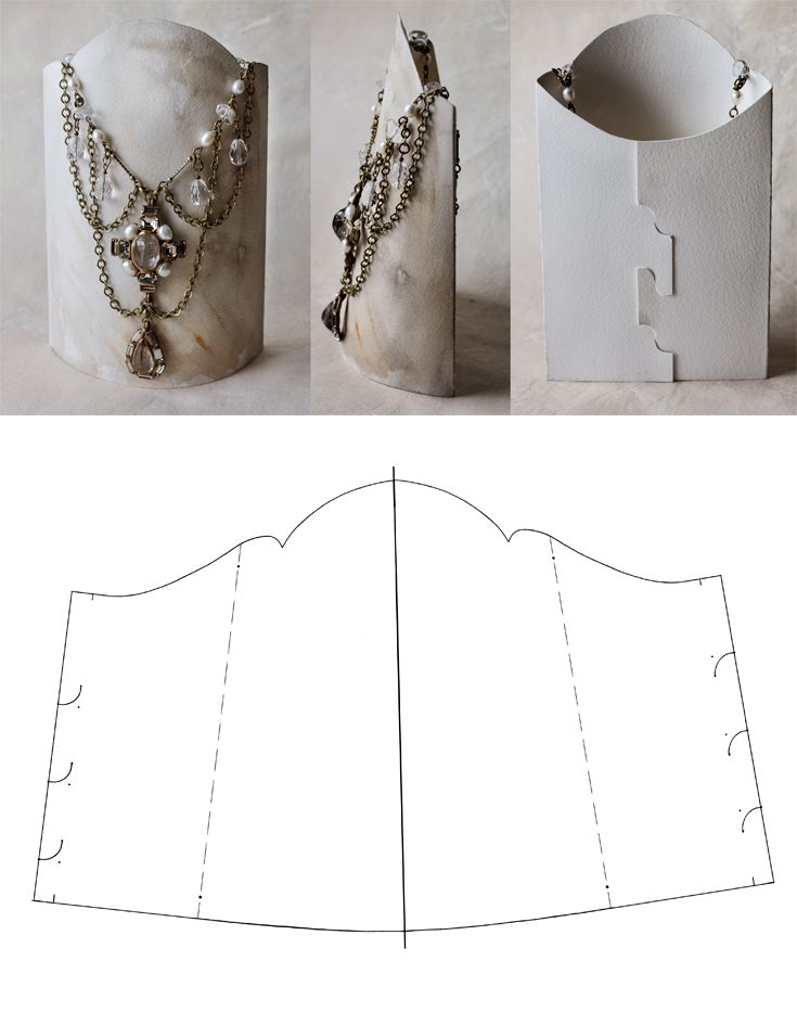 hand-made display stands for necklace | diy necklace display, Presentation templates