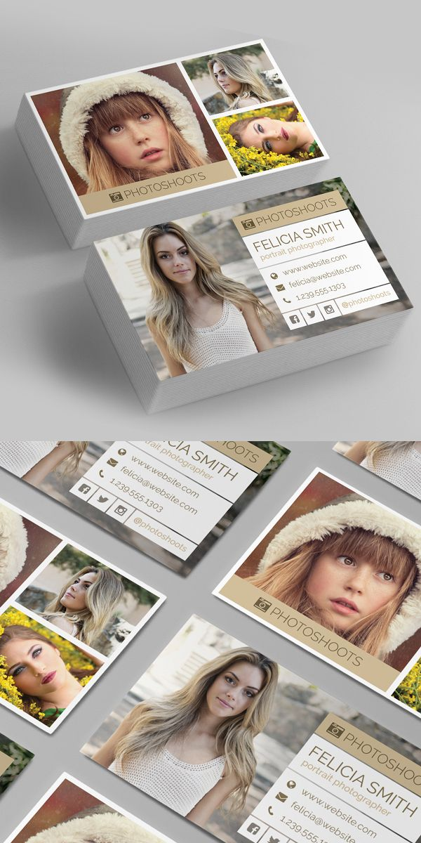 Photographer Business Card Template | Visiting Card | Pinterest ...