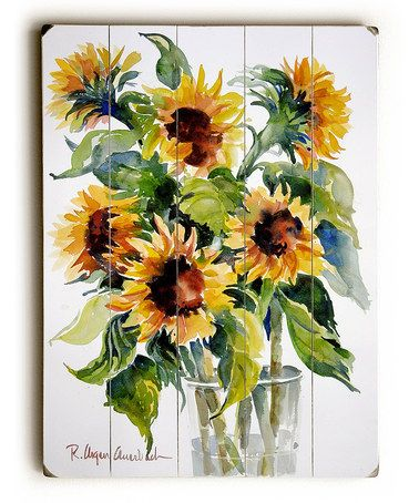 Look At This Zulilyfind Glass Full Of Sunflowers Wall